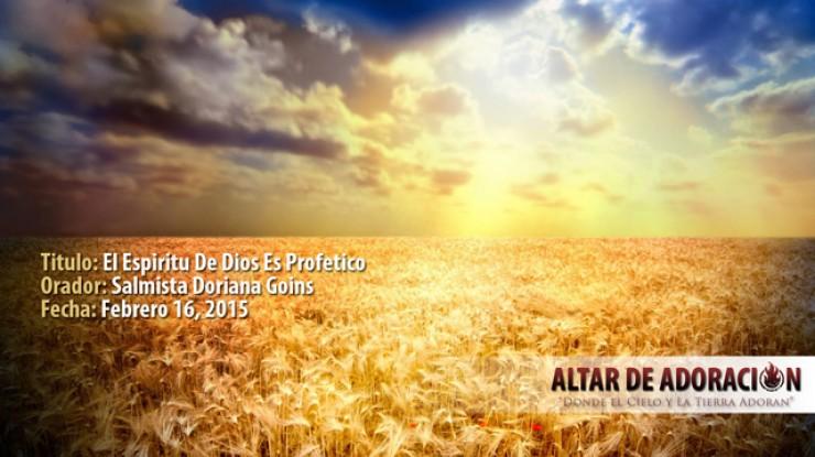 Taller    El Espiritu de Dios es Profetico